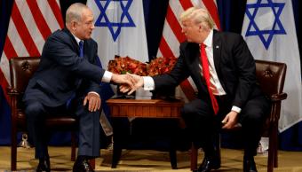 Benjamin Netanyahu y Donald Trump, en Nueva York