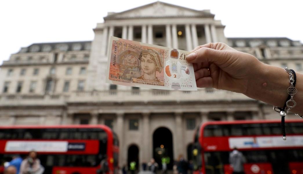 Billete de 10 libras con la imagen de Jane Austen