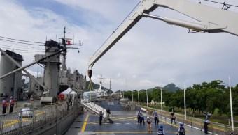 buque usumacinta traslada ayuda humanitaria damnificados chiapas y oaxaca