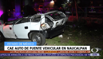 Cae auto puente vehicular Naucalpan Edomex