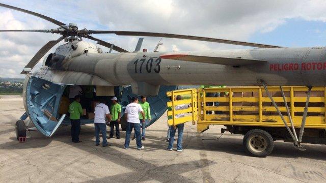 Cae helicóptero con ayuda humanitaria en Chiapas
