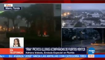Calles Miami Lucen Desiertas Llegada Irma