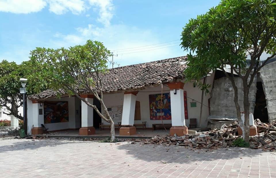 Sismo destruye piezas prehispánicas en Juchitán, Oaxaca