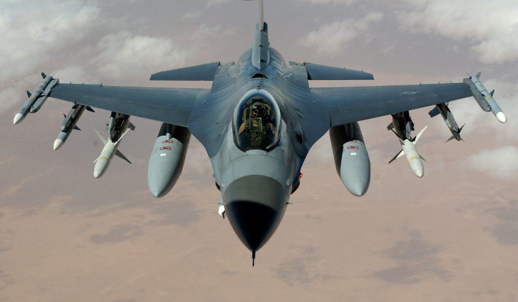 Caza f16 ejercito Estados Unidos se estrella Arizona