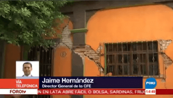 Cfe Restablece Servicio Chiapas Oaxaca Jaime Hernández Director Cfe