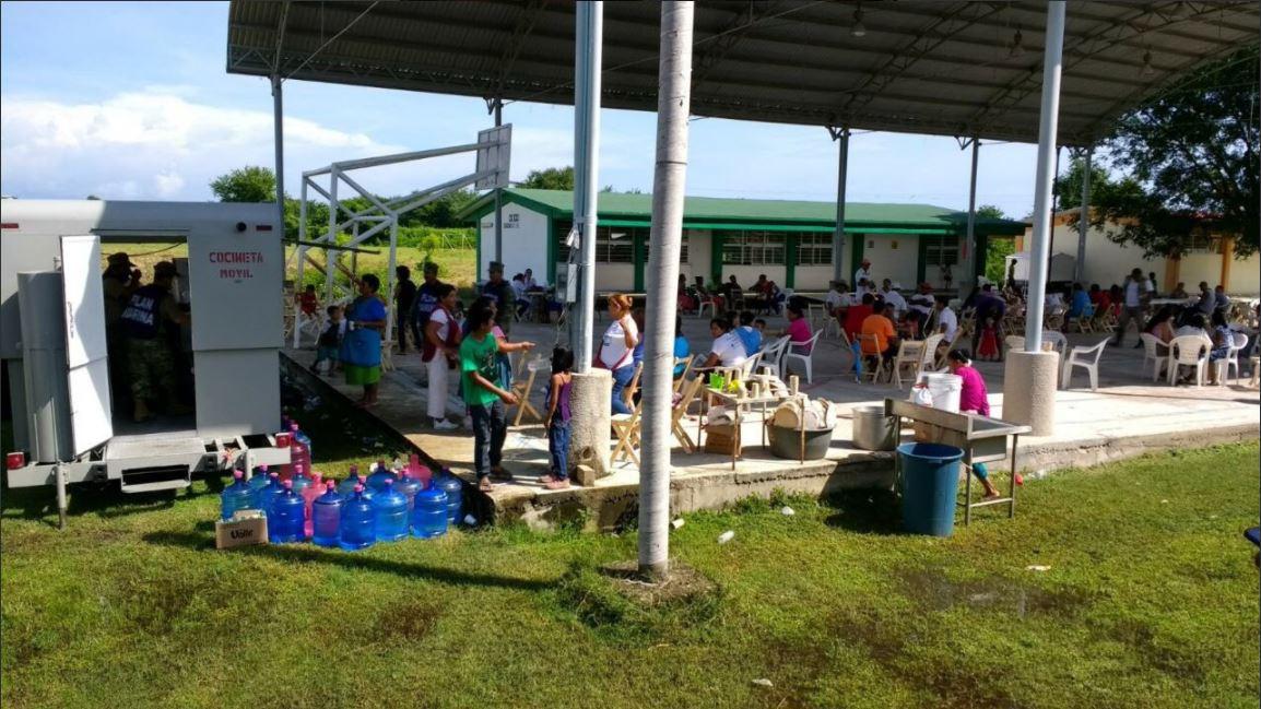 Cofepris supervisa sanidad de comedores comunitarios en Oaxaca y Chiapas tras sismo
