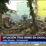 Colapsan viviendas afectadas por sismo del jueves en Juchitán, Oaxaca