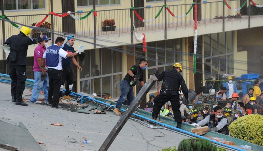 derrumbes en colegio Enrique Rébsamen tras sismo CDMX