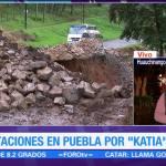 Continúa alerta en Puebla por remanentes de 'Katia'