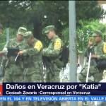 Continúa la alerta gris en Veracruz a consecuencias de los remanentes de 'Katia'