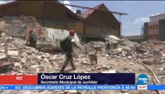 Continúan Labores Remoción Escombros Oaxaca
