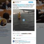 Administración Trump difunde video falso de Irma; era del Aeropuerto CDMX