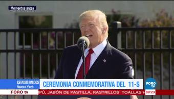 Donald Trump, encabeza, ceremonia, 11S