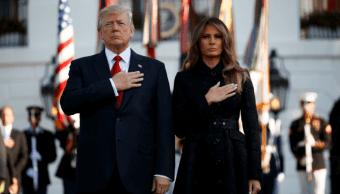 Donald Trump y la primera dama de EU encabezan ceremonia 11S
