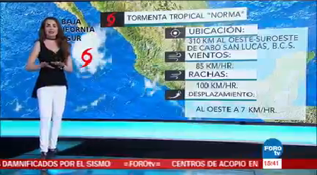 Clima Tres Mayte Carranco Tormentas Tropicales Pacífico Mexicano