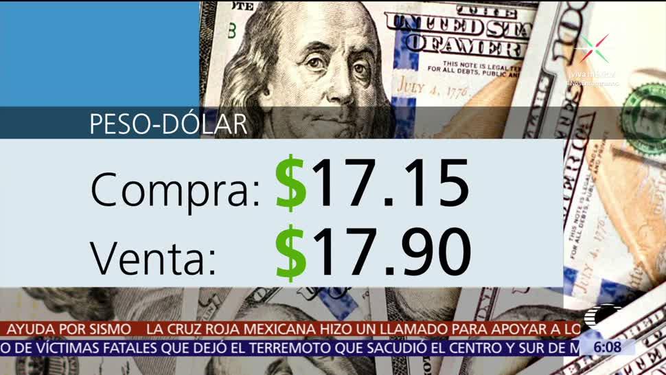 El, dólar, vende, $17.90