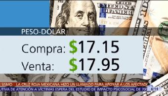 dólar vende $17.95 cotizó jueves ventanillas