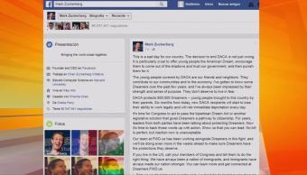 fundador, Facebook, fin, DACA