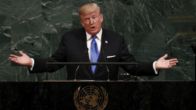 El presidente de EU, Donald Trump, en la ONU