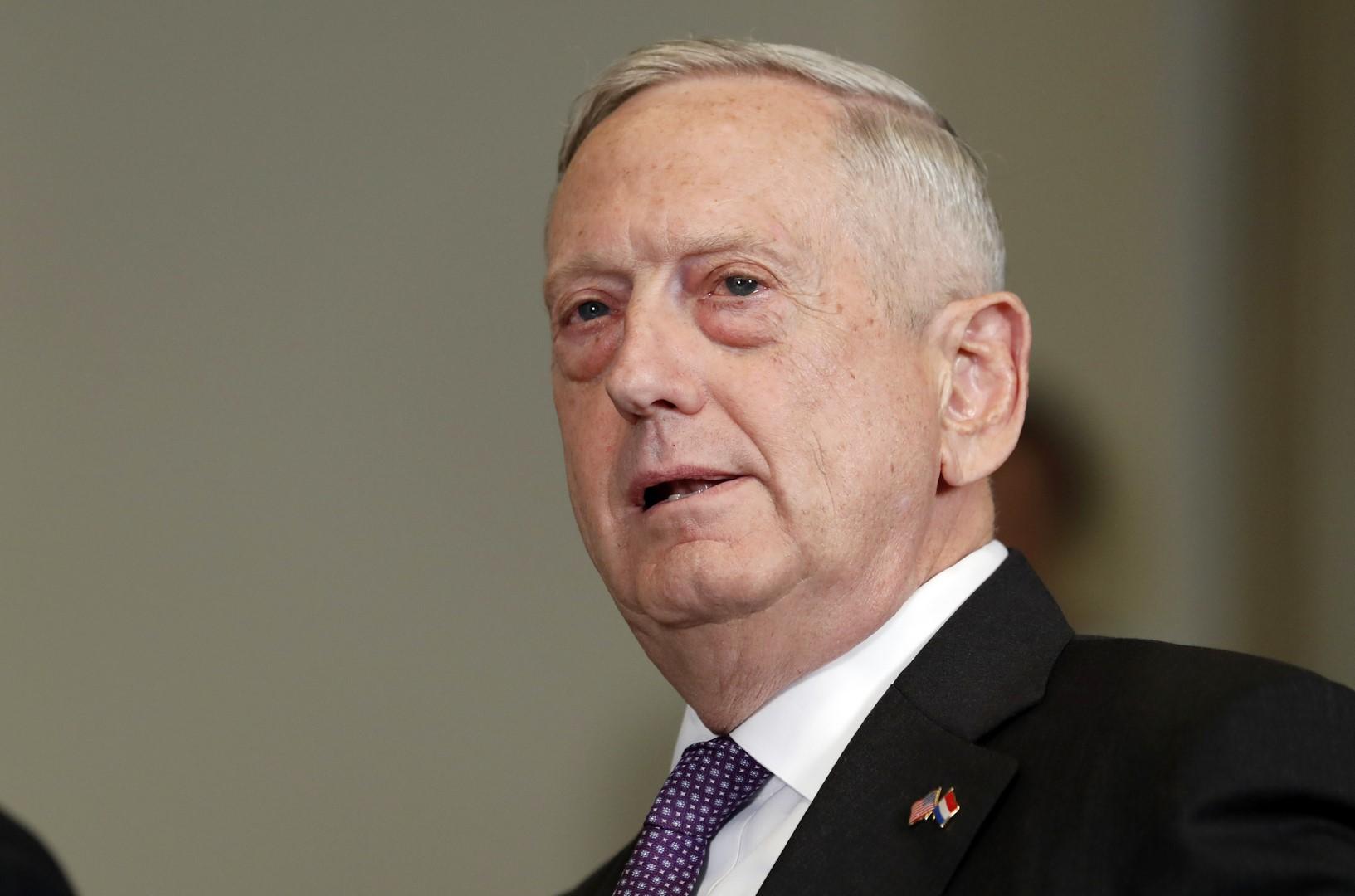 El secretario de Defensa de EU Jim Mattis