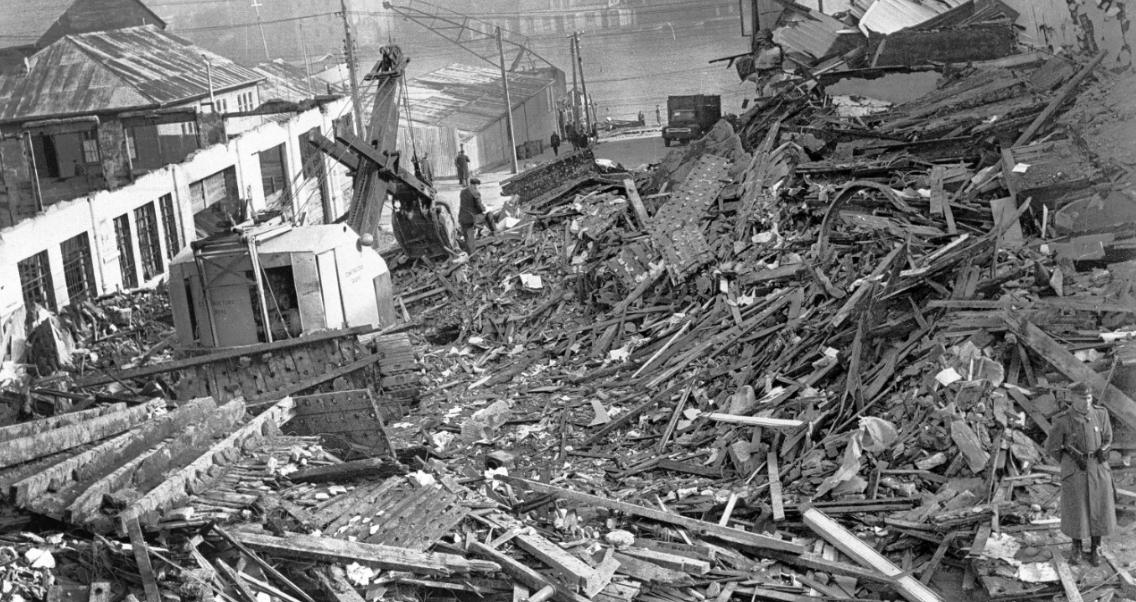 El terremoto de 1960 en Chile dejó más de cinco mil muertos