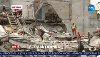 Elementos Rescate Continúan Labores Salvamento Álvaro Obregón