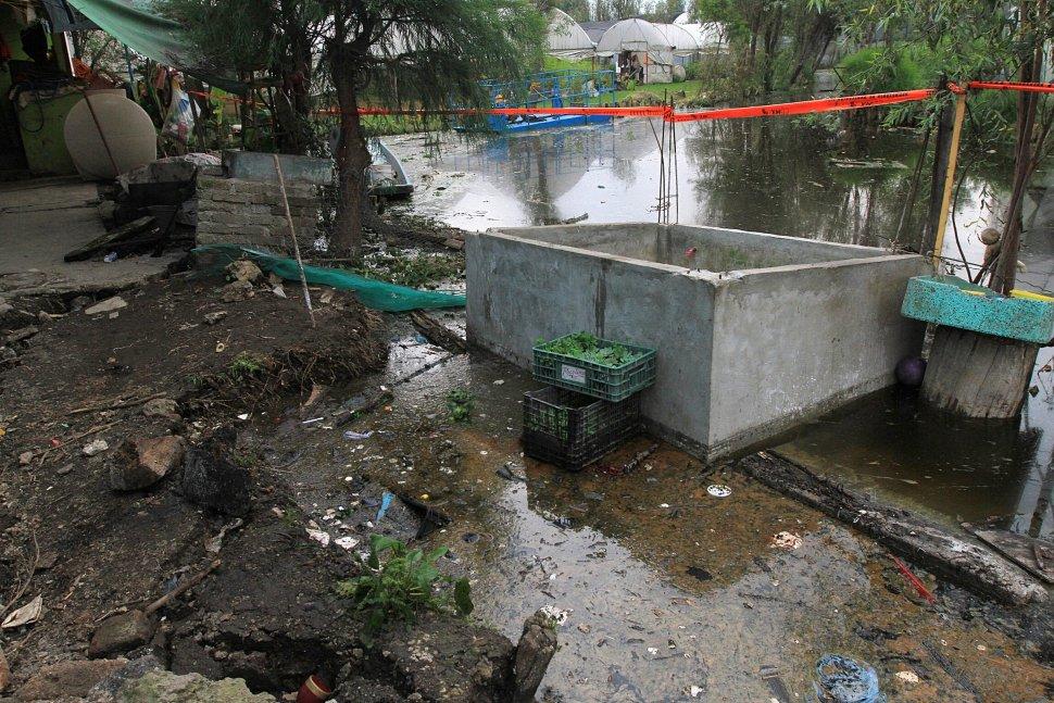 Algunas casas en el Barrio de Caltongo se encuentran dañadas