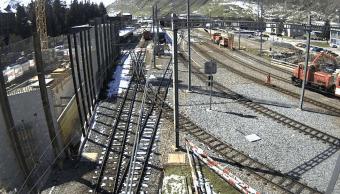 Accidente de tren en estacion suiza