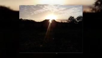 fenomeno del sol sobre zona arqueologica de oxkintok