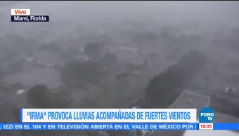 Huracán Irma Azota Florida Fuertes Ráfagas Viento