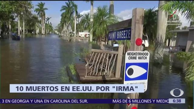 Huracán Irma Degrada Depresión Tropical