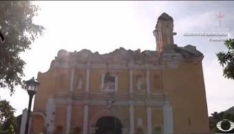 iglesia colapsa en puebla por el sismo