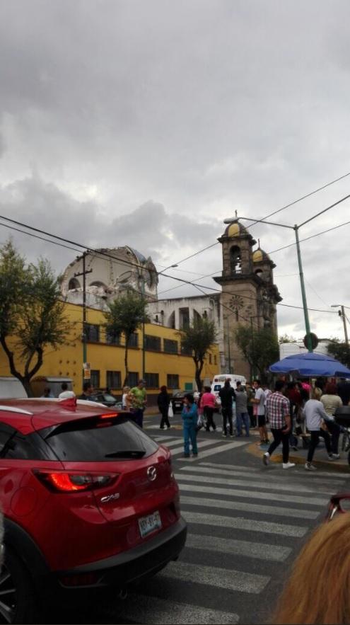 iglesia de la colonia guerrero sufre daños despues de sismo