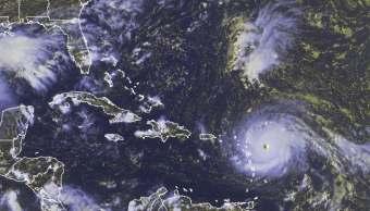 Imagen satelital del huracán Irma sobre el Caribe