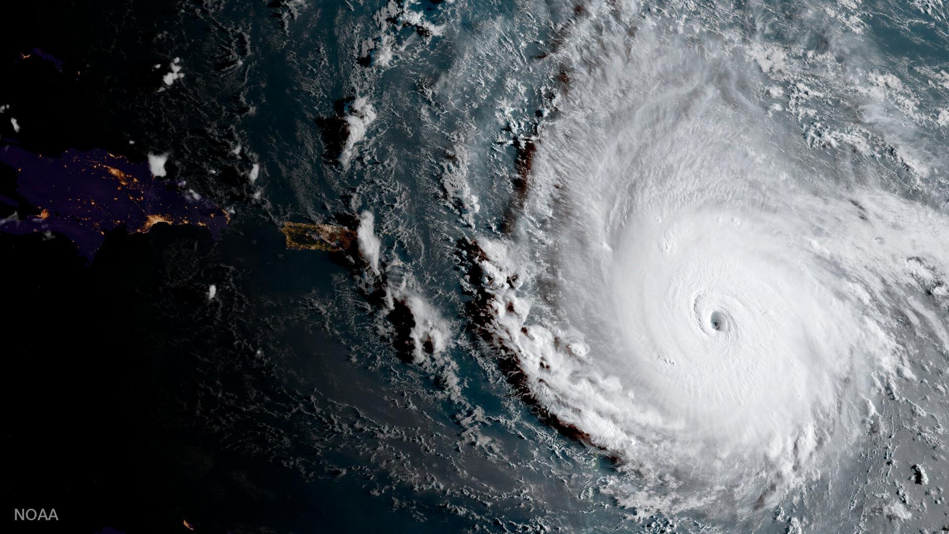 Imagen satelital del huracán 'Irma&#039 sobre el Caribe