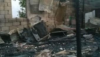 Incendio destruye 5 casas cerca del Fraccionamiento Villa Rica de Veracruz