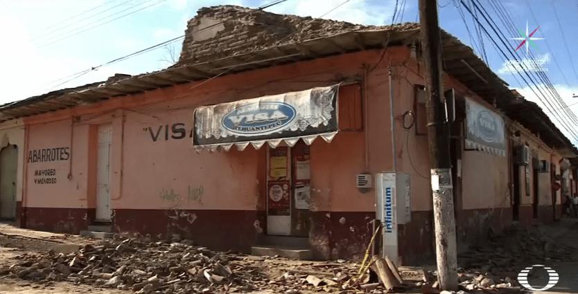 Inmuebles afectados en Tehuantepec tras sismo