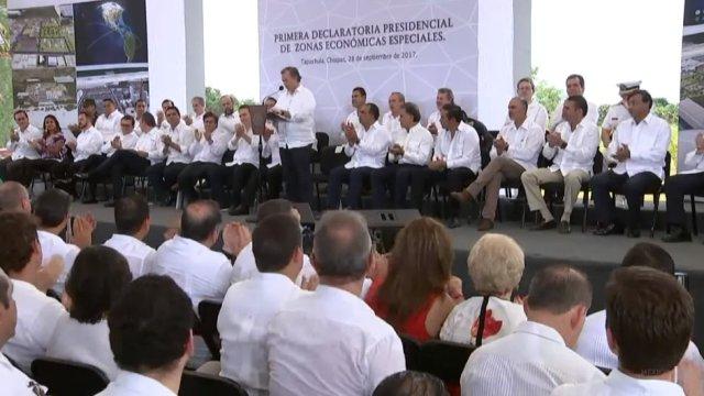 José Antonio Meade en la declaratoria de Zonas Económicas Especiales