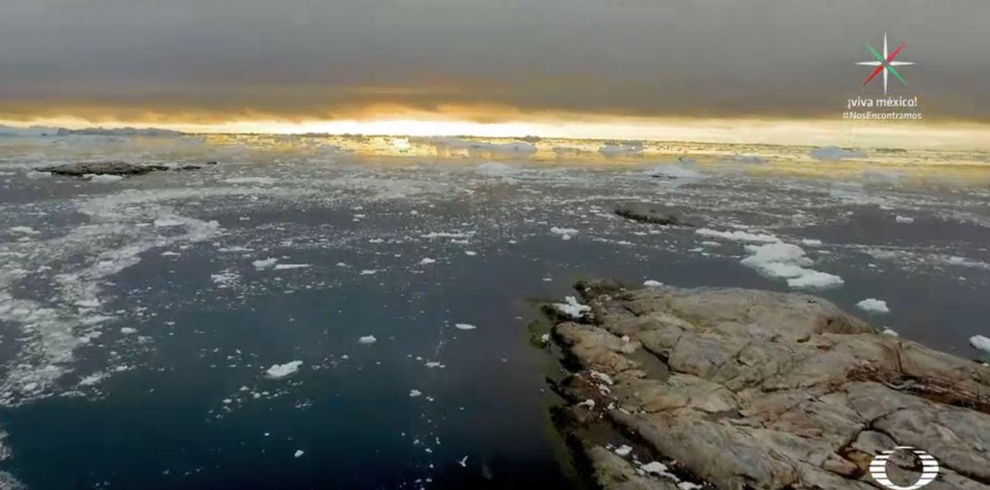 Las capas de hielo del Ártico disminuyen cerca del 13 por ciento cada década. (Noticieros Televisa)