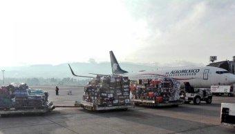 Líneas aéreas y transportistas mexicanos apoyan traslado de donativos