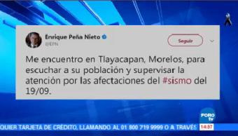 Llega EPN Tlayacapan Morelos Peña Nieto
