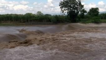 Lluvias de 'Katia' suben el nivel de los ríos en Veracruz