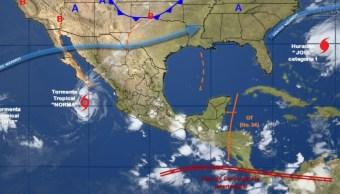 Norma afectará con lluvias al noroeste y occidente de la República Mexicana