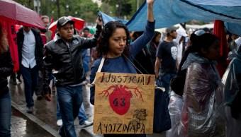 Marcha 3 años desaparición 43 normalistas Ayotzinapa