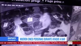 Mueren cinco personas durante ataque a bar en Irapuato