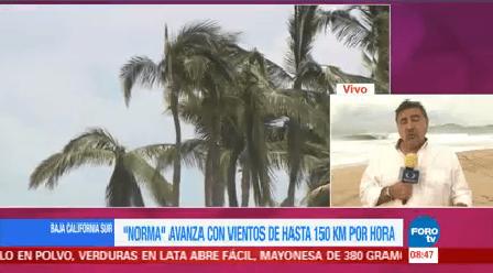 Norma Avanza Vientos Baja California Sur Autoridades Huracán