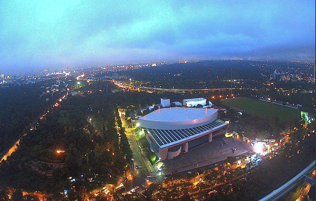 panoramica de la ciudad de méxico, llueve en delegaciones