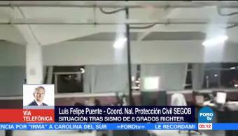 PC reporta primeras afectaciones en todo el país tras sismo en CDMX