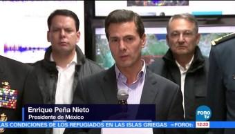 Peña Nieto acude al Cenapred para informar sobre el sismo en Chiapas