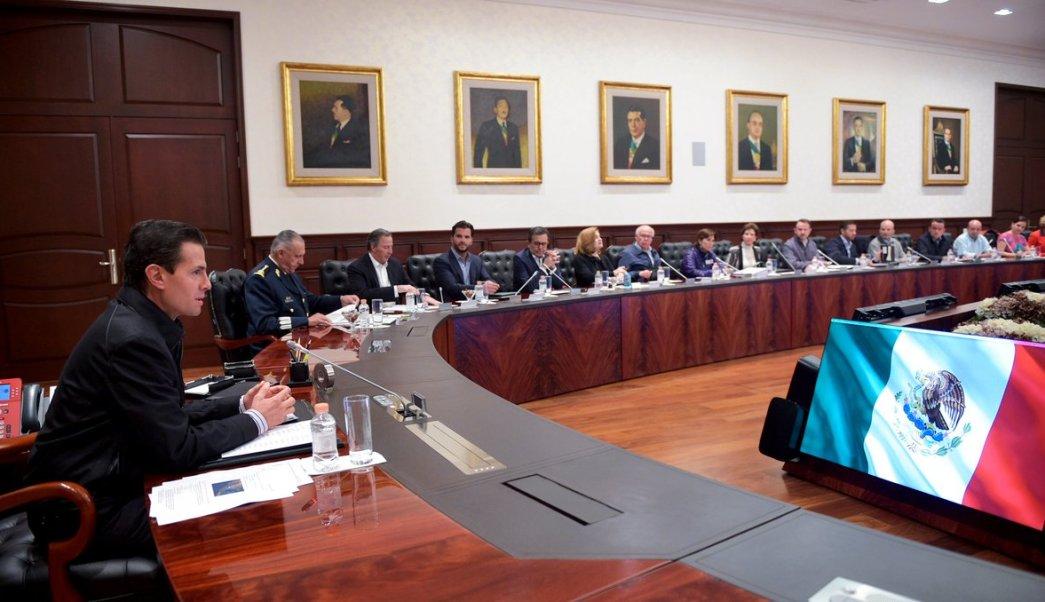 Peña se reúne con su Gabinete